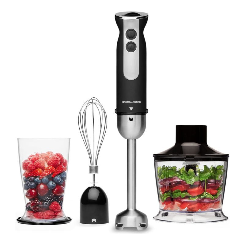 Andrew James Black Hand Blender 3 in 1 Set 1000W-1