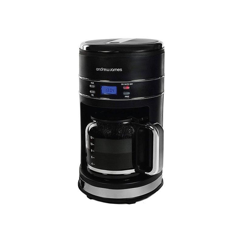 Andrew James Matt Black Filter Coffee Machine 1.5L-1