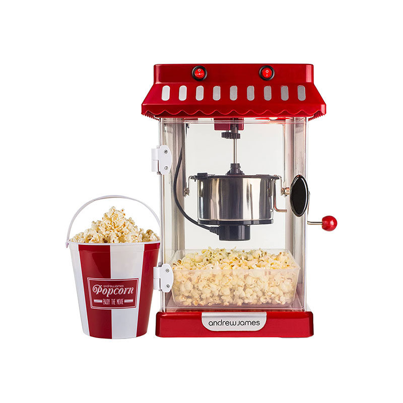 Andrew James Retro Cinema Style Kettle Popcorn Maker-1