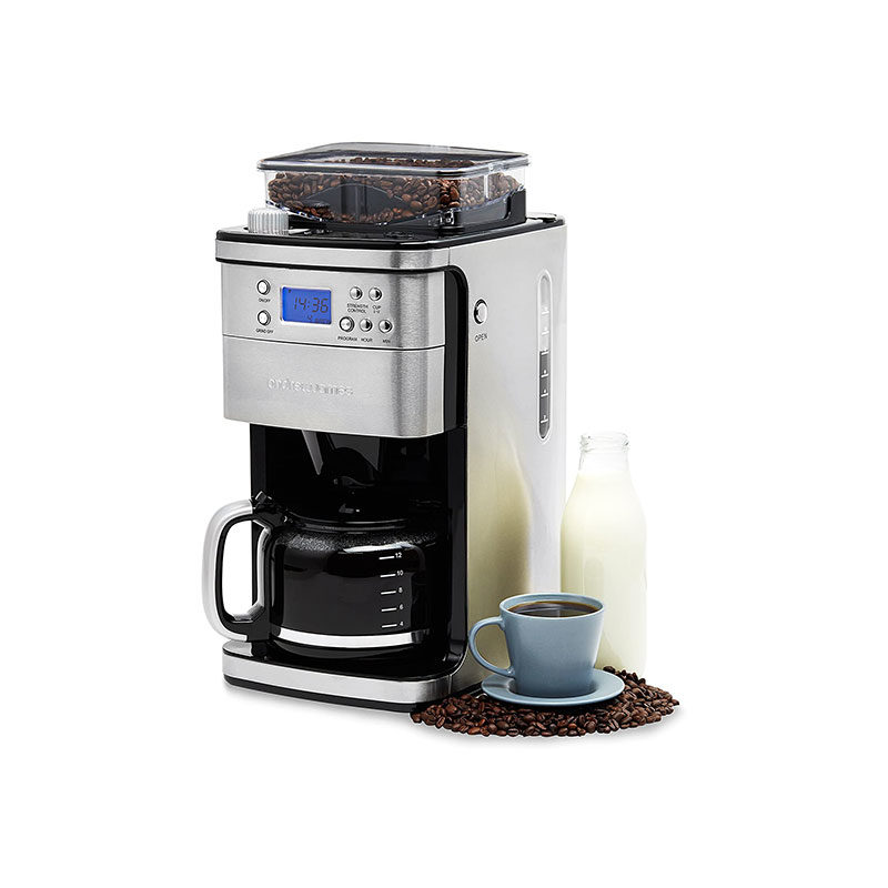 Andrew James Stainless Steel Bean to Cup Coffee Machine Filter Coffee Maker 1.5L 1100W-1