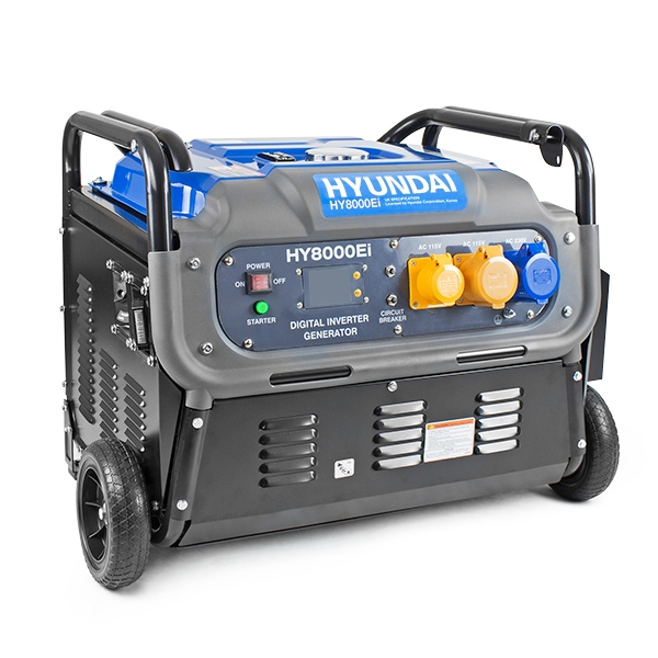 HYUNDAI HY8000Ei 7500W Portable Petrol Inverter Generator 230v/115v   Hyundai Power Equipment