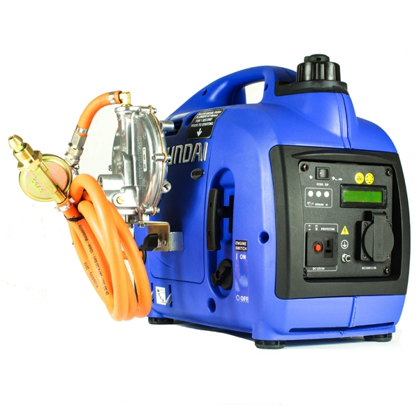 Hyundai 1000W Dual Fuel LPG Inverter Generator HY1000Si-LPG | Hyundai Power Equipment