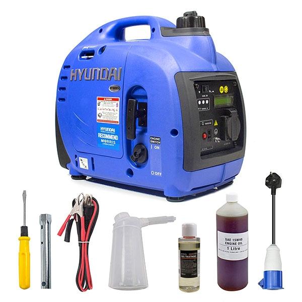 Hyundai 1000W Portable Petrol Inverter Generator HY1000Si | Hyundai Power Equipment