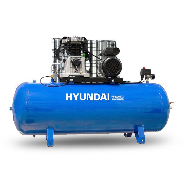 Hyundai 200L 3hp 14cfm Electric Air Compressor HY3200S | Hyundai Power Equipment