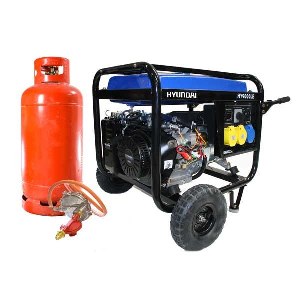 Hyundai 6.6kW Electric Start Dual Fuel Petrol/LPG Generator HY9000LEk-LPG | Hyundai Power Equipment