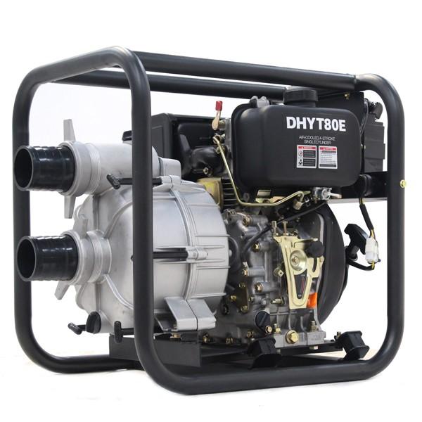 Hyundai 80mm 3 Diesel Trash Water Pump DHYT80E