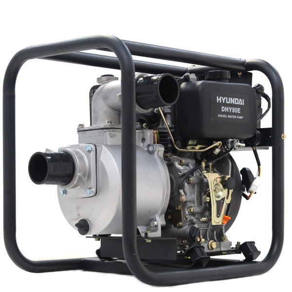 Hyundai 80mm 3 Electric Start Diesel Water Pump DHY80E