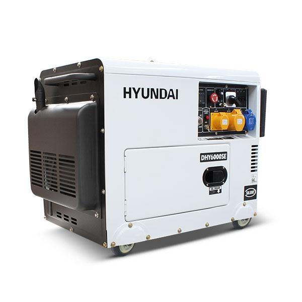 Hyundai DHY6000SE 5.2kW 'Silent' Standby Diesel Generator | Hyundai Power Equipment