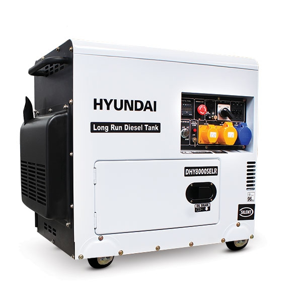 Hyundai DHY8000SELR 6kW Silenced Long Run Diesel Generator | Hyundai Power Equipment