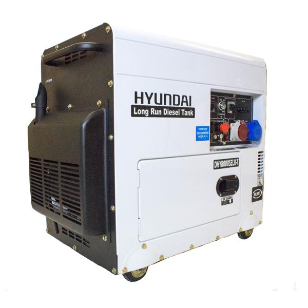 Hyundai DHY8000SELR-T 6kW Multi-phase - Single & 3-phase - Silenced Long Run Diesel Generator | Hyundai Power Equipment
