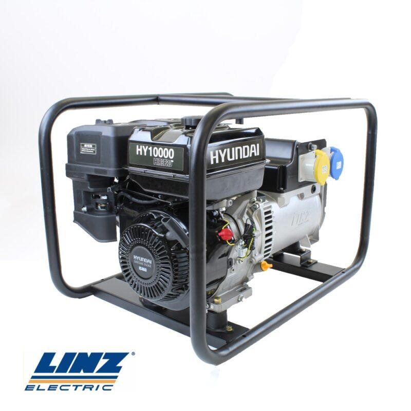 Hyundai HY10000 Hire Pro 7Kw Recoil Start Site Petrol Generator   Hyundai Power Equipment