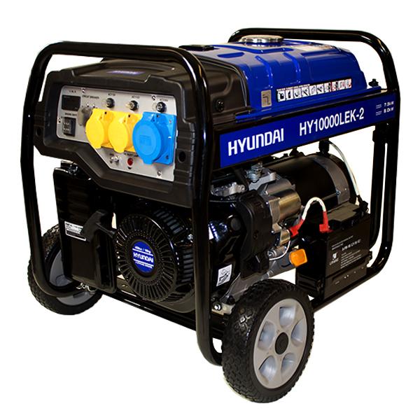 Hyundai HY10000LEK-2. The 8kW/10kVA* Recoil & Electric Start Site Petrol Generator | Hyundai Power Equipment
