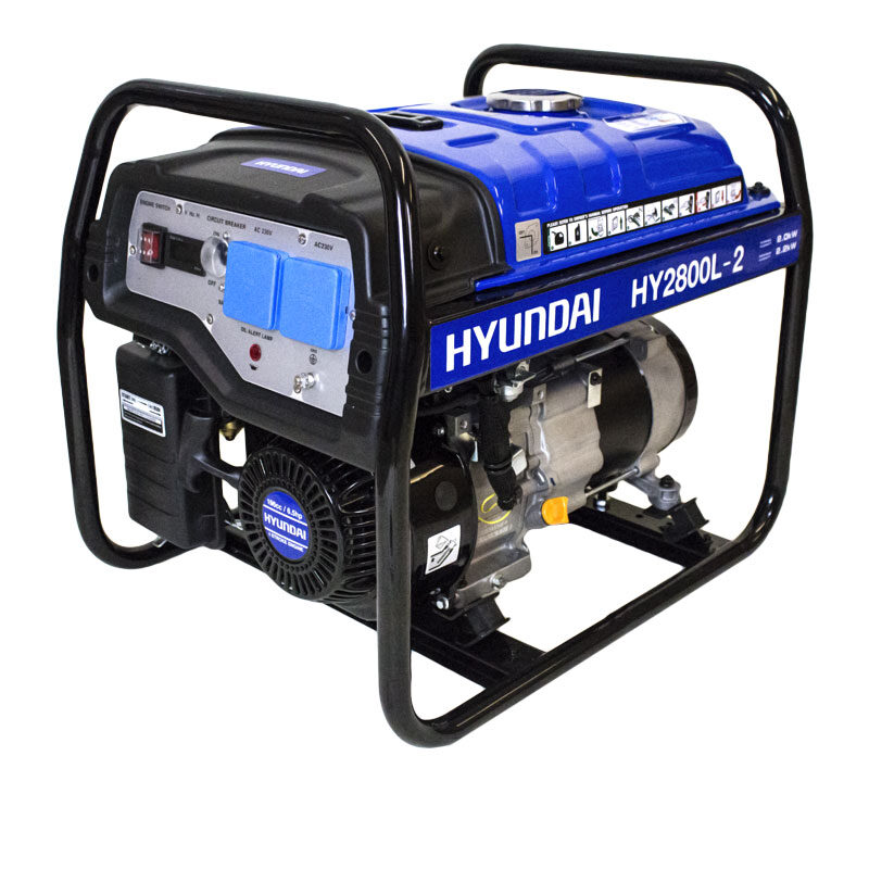 Hyundai HY2800L-2 2.2kW / 2.75kVa* Recoil Start Site Petrol Generator | Hyundai Power Equipment