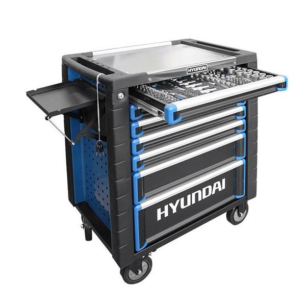 Hyundai HY292 291 Piece 7 Drawer Castor Mounted Roller Tool Chest Cabinet | Hyundai Power Equipment