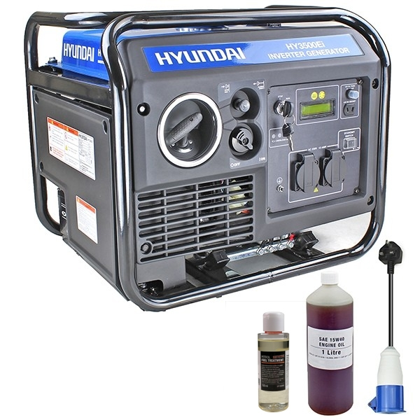 Hyundai HY3500Ei 3.3Kw Single Phase Electric Start Inverter Generator | Hyundai Power Equipment