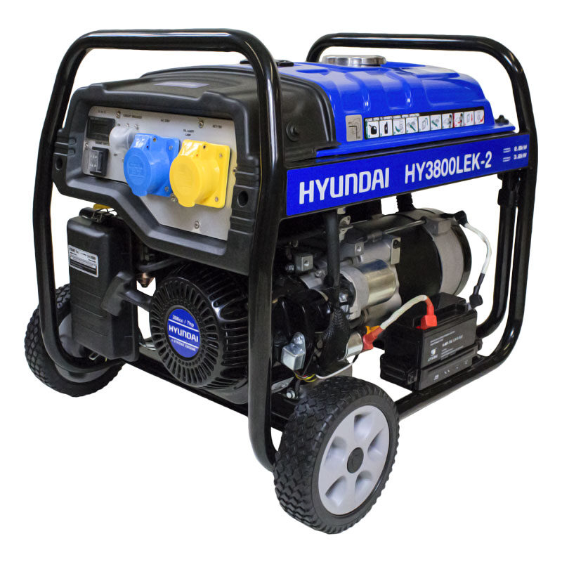 Hyundai HY3800LEK-2 3.2kW / 4.00kVa* Electric Start Site Petrol Generator | Hyundai Power Equipment