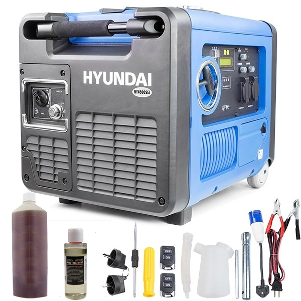 Hyundai HY4500SEI 230V Petrol Driven 4000W 4.0kW 5kVA Portable Silenced Generator | Hyundai Power Equipment