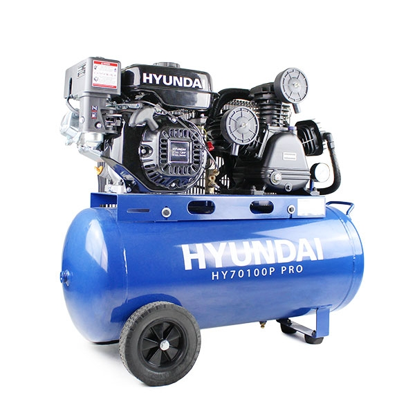 Hyundai HY70100P Petrol Driven Air Compressor   Hyundai Power Equipment