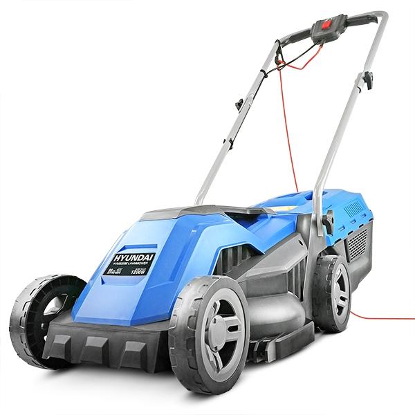 Hyundai HYM3300E Electric 1200W / 230V 33cm Rotary Rear Roller Mulching Lawnmower | Hyundai Power Equipment