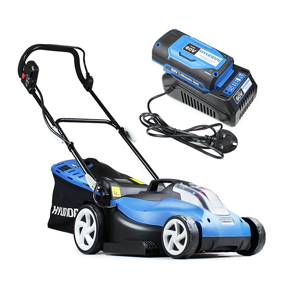 Hyundai HYM60LI420 60V Lithium Ion Cordless Battery Powered Roller Lawn Mower With Battery & Charger | Hyundai Power Equipment