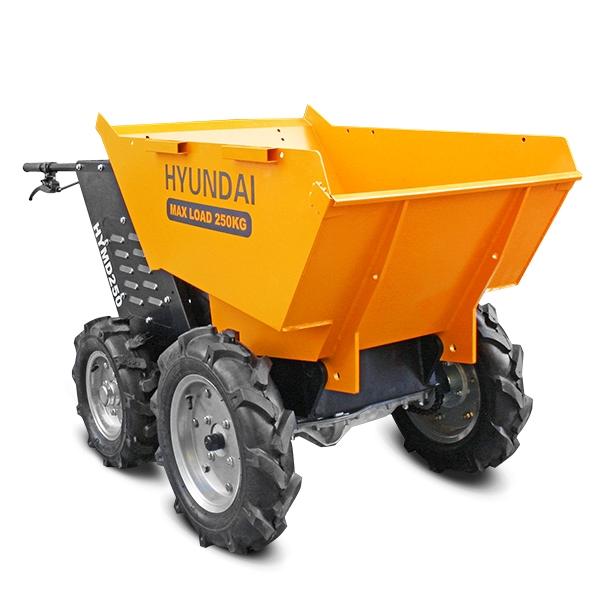 Hyundai HYMD250 196cc 4-Wheel Drive 250kg Payload Mini Dumper / Power Barrow | Hyundai Power Equipment