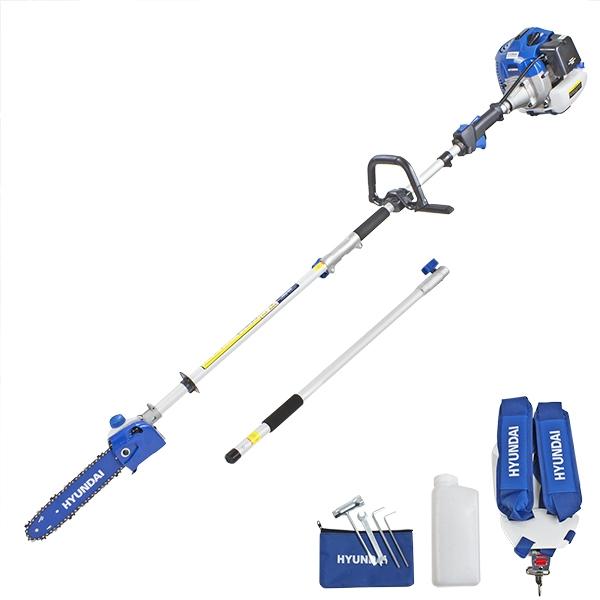 Hyundai HYPS5200X 52cc Long Reach Petrol Pole Saw/Pruner/Chainsaw | Hyundai Power Equipment