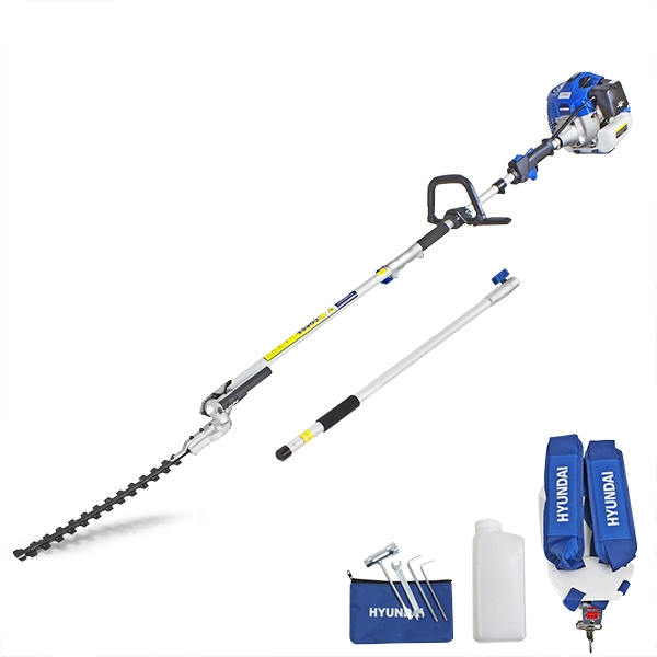 Hyundai HYPT5200X 52cc Long Reach Petrol Pole Hedge Trimmer/Pruner | Hyundai Power Equipment