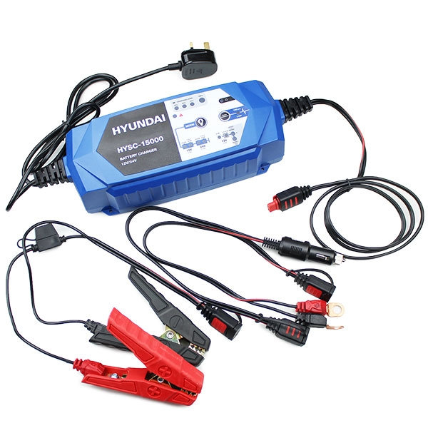 Hyundai HYSC-15000 SMART Battery Charger 12V/24V | Hyundai Power Equipment