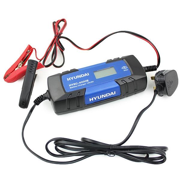 Hyundai HYSC-4000E 4 Amp SMART Battery Charger 6v /12v | Hyundai Power Equipment