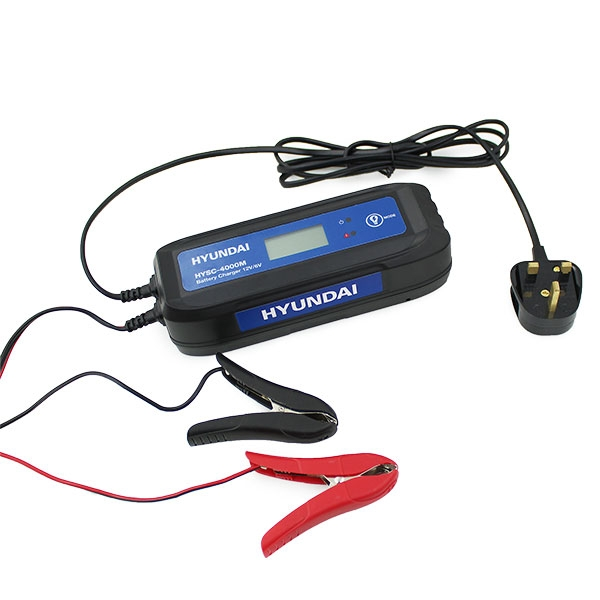 Hyundai HYSC-4000M 4 Amp SMART Battery Charger 6v/12v | Hyundai Power Equipment