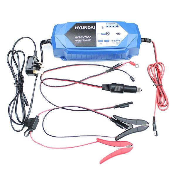Hyundai HYSC-7000 SMART Battery Charger 12V/24V | Hyundai Power Equipment
