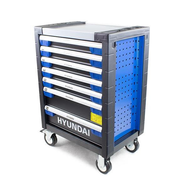 Hyundai HYTC9003 305 Piece 7 Drawer Caster Mounted Roller Tool Chest Cabinet | Hyundai Power Equipment