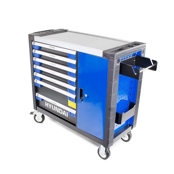 Hyundai HYTC9004 305 Piece 7 Drawer Caster Mounted Roller Premium Tool Chest Cabinet With XXL Stainless Steel Top | Hyundai Power Equipment