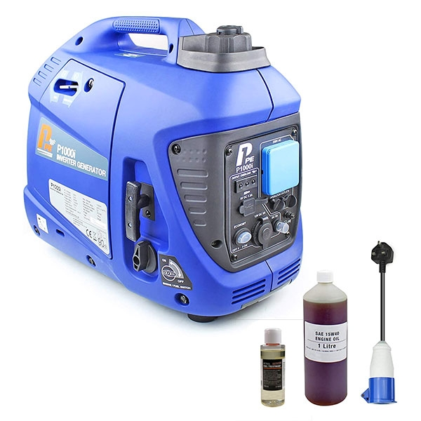 P1 P1000i 1000W Portable Petrol Inverter Suitcase Generator (Powered by Hyundai) | Hyundai Power Equipment