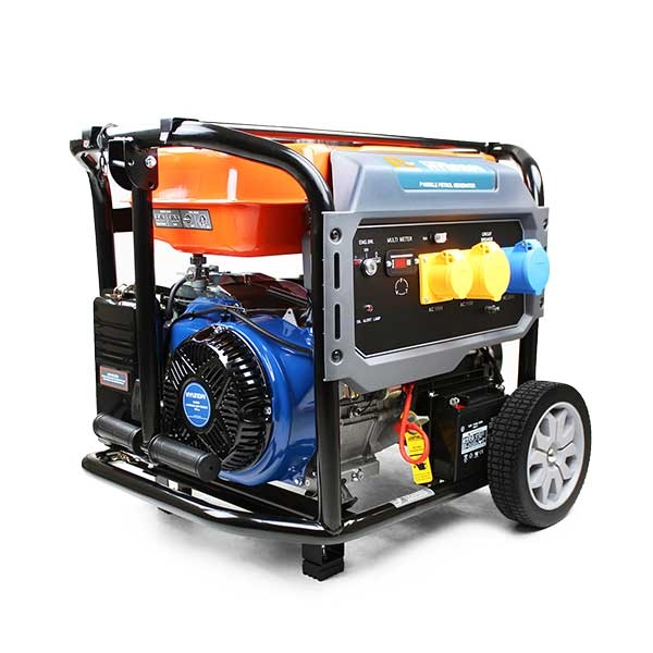 P1PE P10000LE 7.9kW / 9.8kVA* Recoil & Electric Start Site Petrol Generator (Powered by Hyundai) | Hyundai Power Equipment