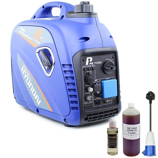 P1PE P2500i 2200W Portable Petrol Inverter Generator (Powered by Hyundai) | Hyundai Power Equipment