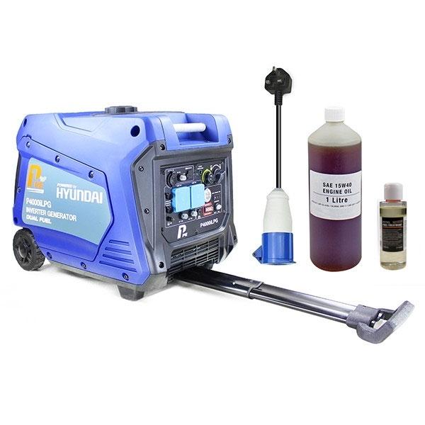 P1PE P4000iLPG 4000W Portable Dual Fuel LPG/Petrol Inverter Generator   Hyundai Power Equipment